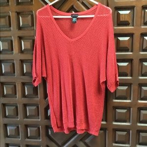 Torrid red thin sweater top size 2